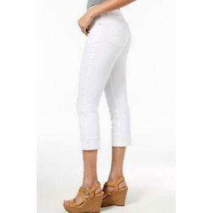 Lee Platinum Fit Size 14 White Capri Jeans Skinny